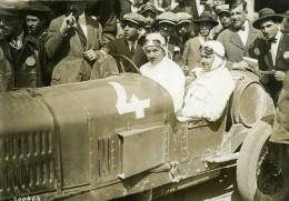 Sicile Palerme Course Targa Florio Pilote Boillot Sur Peugeot Ancienne Photo Rol 1925 - Cars