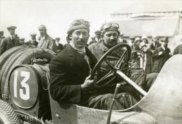 Grand Prix De Dieppe Jules Goux Sur Peugeot Avant La Course Photo Ancienne Branger 1912 - Cars