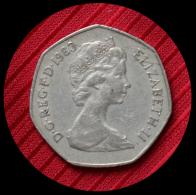50 Pence Grande Bretagne 1983 - 1971-… : Monnaies Décimales