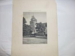 TERNAY - Vienne  - Le Château -  Héliogravure Paysages Et Monuments Du Poiitou De Robuchon . Format 46x32. - Other