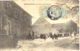 70 - Haute-Saône - MONTJUSTIN - Beau Plan Animé Des ECOLES Sous La Neige, 1908 - France