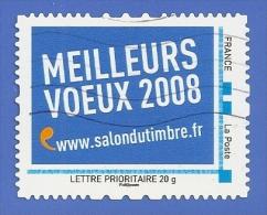 FRANCE - MONTIMBRAMOI - MEILLEURS VOEUX 2008 - SALON DU TIMBRE - OBLITERE - France