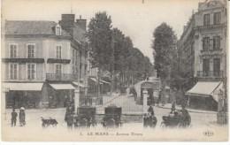 Le Mans Sarthe France, Avenue Thiers Street Scene, C1900s/10s Vintage Postcard - Le Mans
