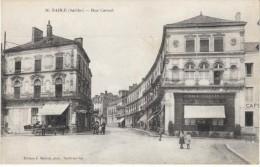 Sable Sarthe France, Rue Carnot Street Scene, C1910s Vintage Postcard - Sable Sur Sarthe