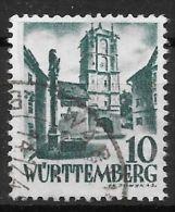 Württemberg-Hohenzollern / MiNr.  33   O / Used  (s148) - Zone Française
