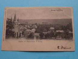 Amay-lez-Huy - Eglise Et Panorama D'Amay ( Félix De Ruyter ) Anno 1903 ( Zie/voir Foto Voor Details ) !! - Hoei