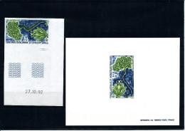 """1993  TAAF  ( Plante """"Lyallia Kerguelensis"""" ND - Coin Daté  + E.L.) Luxe **  - TRES RARE - Non Dentellati, Prove E Varietà"""