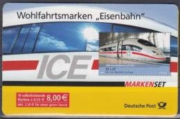Bund MiNr. MH 64 ** Wohlfahrt: Eisenbahn - Markenheftchen