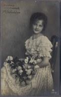 FILLE PETITE FILLE - LITTLE GIRL -Mädchen   - Jolie Carte Fantaisie  1917y.     361q - Retratos