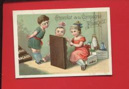 SCHAAL COMPAGNIE FRANCAISE JOLIE CHROMO PETITE FILLE LECTURE TABLEAU CHOCOLAT   STRASBOURG - Unclassified