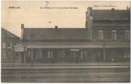 Ramillies. La Station Et Le Restaurant Huvenne. - Ramillies