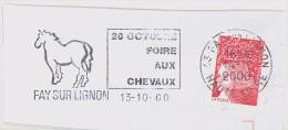 FRANCE. FRAGMENT POSTMARK. FAY SU LIGNON. HORSE FAIR. 2000. FLAMME - Marcofilia (sobres)