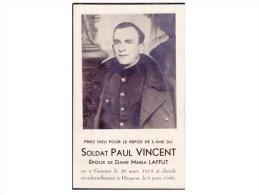 TOP TOP TOP GOESNES SOLDAT  PAUL VINCENT _ DECEDE A HINGEON LE 6 MARS 1940 - Ohey