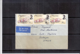 Lettre De Mauritius Vers La Sardaigne(Italie) - Coquillages (à Voir) - Maurice (1968-...)