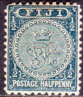 FIJI 1897 SG #99 ½d MH Perf. 11x11¾ Greenish Slate - Fiji (...-1970)