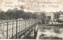 """Schneidemühl  Partie An Der Kuddow-Brücke Mit Kirche : Feldpost """"soldatenbrief"""" II.E.B. 149. Rekr-Depot En 1917 - Posen"""