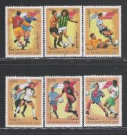 AFGHANISTAN -1997: 6 VALORI NUOVI SENZA GOMMA DEDICATI AL CALCIO - IN OTTIME CONDIZIONI. - Calcio