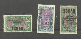 Tchad N°25, 35, (40 Légèrement Aminci Offert) Cote 3.40 Euros - Chad (1922-1936)