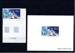 1994  TAAF  ( Station Satellites CNES - ND Coin Daté  +  EL )  Luxe ** - Superbes Et RARES - Non Dentellati, Prove E Varietà