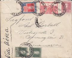 Argentina TRES AROYOS 1920 Cover Letra KØBENHAVN LUFTPOST Cds. Denmark Via PARIS (2 Scans) - Argentinien