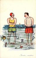 [DC4380] CARTOLINA - HUMOR - INCONTRI MARITTIMI - Non Viaggiata - Old Postcard - Humor