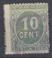 España Impuesto De Guerra U 49 (o) Cifra. 1897 - Impuestos De Guerra