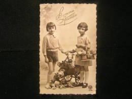 2*AP-n°33 / Carte De Voeux - Bonne Année, Couple D'enfants  / Circule 1936 - Schiltigheim