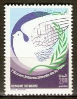 MAROC    -   1986     Y&T N° 1011 **.   Colombe De La Paix - Maroc (1956-...)