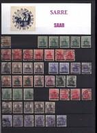 SARRE   1920  -  1959       Collection de plus de 900  timbres dans un album