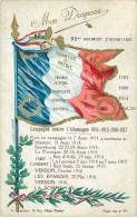 85 ° REGIMENT D'INFANTERIE - DRAPEAUX ET CAMPAGNES - CPA - VOIR 2 SCANS. - Régiments