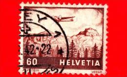 SVIZZERA - Usato - 1941 - Aerei Su Panorami - Alpstein - 60 P. Aerea - Oblitérés