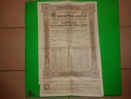 Emprunt Russe SOCIETE DES EMBRANCHEMENTS DE CHEMINS DE FER 1913 - Sarre