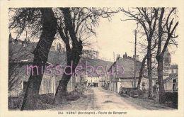 24 - VERGT -Route De Bergerac  - Dos Vierge  -  TTBE-  2 Cans - France