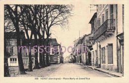 24 - VERGT - Place Marty Et Grand'Rue  - Dos Vierge  -  TTBE-  2 Cans - France
