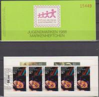 Bund 1988 Markenheftchen Stiftung Deutsche Jugendmarke  SDJ - MH 1a  Mit 5 X Nr.1363 O Gest.  ( D 3080 ) - [7] République Fédérale
