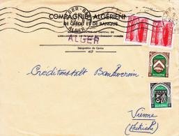 Algerien Brief 1956, 4 Fach Frankierung - Algerien (1924-1962)