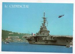 """Toulon - Le Port-avions """"Clémenceau"""" - (Porte Avions) - Guerra"""