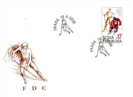 Czech Republic 2008 - 100 Years Of Czech Hoceky, FDC - Hockey (Ijs)
