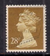GB 1988 QE2 28p Ochre Machin SG X976.... ( C1051 ) - 1952-.... (Elisabeth II.)