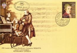 Bosnia And Herzegovina Republika Srpska 2006 FDC, Wolfgang Amadeus Mozart - Musique