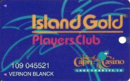 Isle Of Capri Casino 3rd Issue Island Gold Players Club Slot Card - Lake Charles - Casino Cards