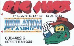 Bayou Caddy´s Jubilation Casino Lakeshore, MS - 1st Issue Big Shots Slot Card (Printed) - Casino Cards
