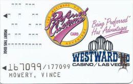 Westward Ho Casino Las Vegas - 3rd Issue Slot Card - Casino Cards