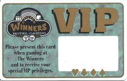 Winners Hotel Casino Winnamucka, NV - VIP Card With 1998 Calendar - Casino Cards