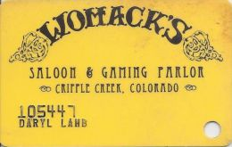 Womacks Casino Cripple Creek CO - 2nd Issue Slot Card - Casino Cards