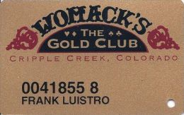 Womacks Casino Cripple Creek CO - 6th Issue Slot Card - Casino Cards