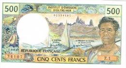 Z.1  NOUMEA Nouvelle Caledonie Billet De Banque Banknote IEOM 500 Francs Money Pirogue Sculpture Neuve UNC - Autres