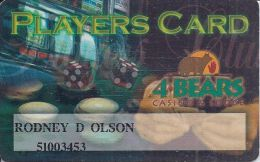 4 Bears Casino 5th Issue Players Card / Slot Card - Casino Cards