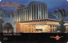 Aladdin Casino Las Vegas 1st Issue Slot Card - No Phone# On Back - Casino Cards