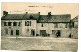 CPA  35  :   GOSNE  Place De L'église    A  VOIR   !!!! - France